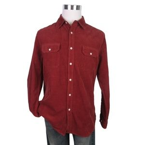 AG Benning Slim Fit Utility Shirt Tannic Red